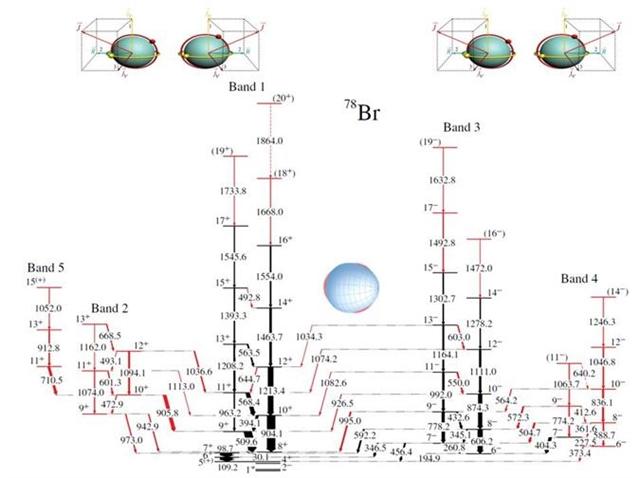 首次发现原子核中手性和空间反射对称性的联立自发破